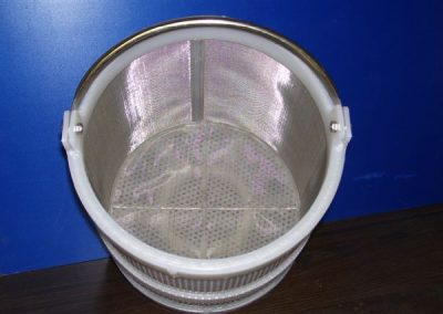 baskets 1212PP x .187 Perf and #40 Mesh Basket